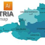 Free Vector Map of Austria