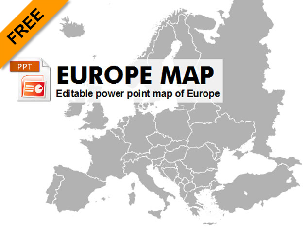 d89d0fa8c Free editable powerpoint map of Europe - Graphic-flash-sources