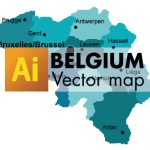 Free Vector Map of Belgium