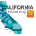 Free California Vector Map