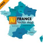 Free graphic vector map of France (nouvelles régions)