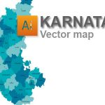 Free Karnataka vector map