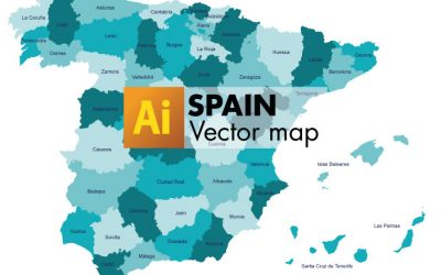 Free Vector Map of Spain