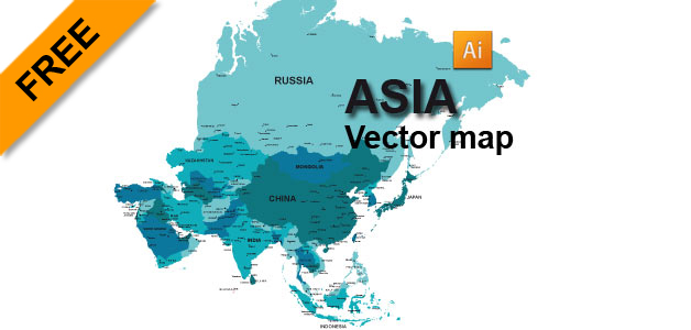 Map Of Asia Vector.Free Asia Vector Map Graphic Flash Sources