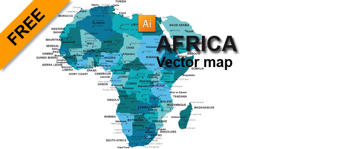 map of africa vector Free Africa Vector Map Graphic Flash Sources map of africa vector