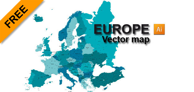 Europe Free Vector Map Fully Detailed Download And Enjoy