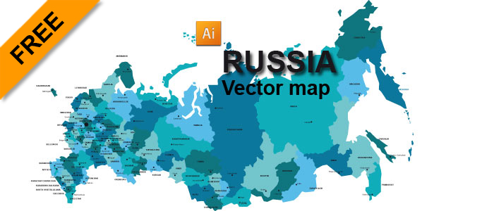 Free Russia Vector Map